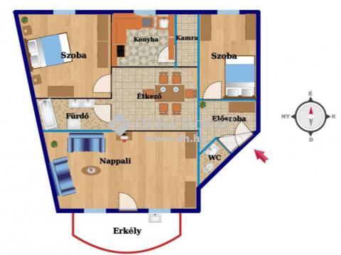 Eladó Lakás, Hajdú-Bihar megye, Debrecen - Belvárosi, 1 emeleti, 80 nm lakás!