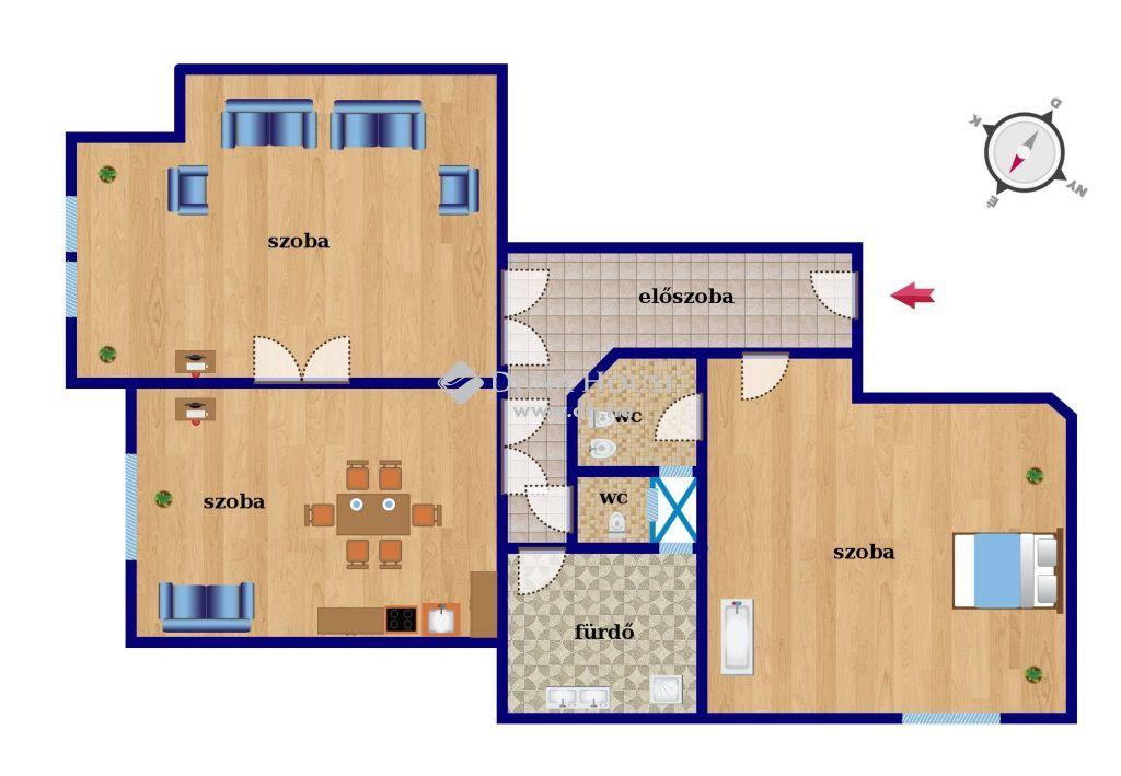 Eladó Lakás, Budapest 9. kerület - IX. kerület BÁLNA, DUNAPART és BAKÁTS tér közelében